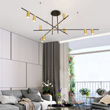 9/12-Light Geometric Chandelier Ambient Light Electroplated Painted Finishes Metal E26/E27 - heparts