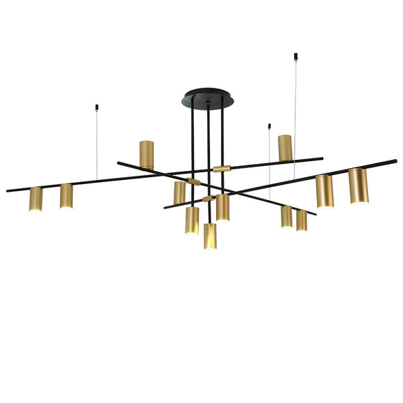 9/12-Light Geometric Chandelier Ambient Light Electroplated Painted Finishes Metal E26/E27