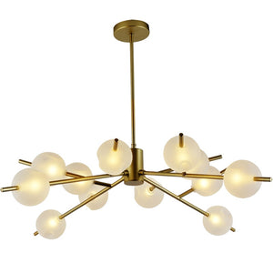 9/12/15-Sputnik Chandelier Ambient Light Metal Globe Glass Candle Style LED G9 - heparts