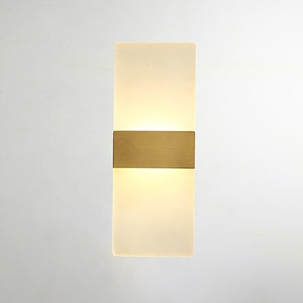 Acrylic Flat Solid Brass Sconce Wall Lights Bathroom Lights Vanity Lighting Mid Century Sconce - heparts