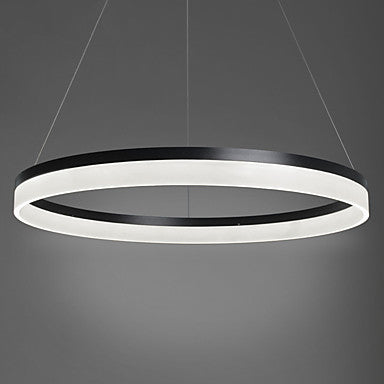 Acrylic Medium Thick Circular Pendant Light Chandelier Lighting Ambient Light - LED Integrated - heparts