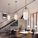 Artistic Mini Novelty Pendant Light Ambient Light Electroplated Metal Creative Glass LED Integrated