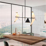 Birdie Geometric Pendant Light Chandelier Ambient Light Electroplated Painted Metal G9+E26E27