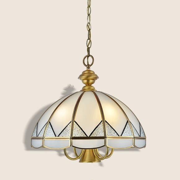 Brass Chandelier Ambient Light 7-Light Living Room Glass Candle Style E26 /E27  E12/E14