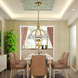 Brass Chandelier Ambient Light 7-Light Living Room Glass Candle Style E26 /E27  E12/E14 - heparts