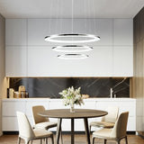 Circular Pendant Light Chandelier Lighting Ambient Light Light Downlight-LED Dimmable With Remote Control - heparts