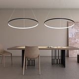 Circular Pendant Light Chandelier Lighting Lamp Ambient Light - LED Dimmable Remote Control - heparts
