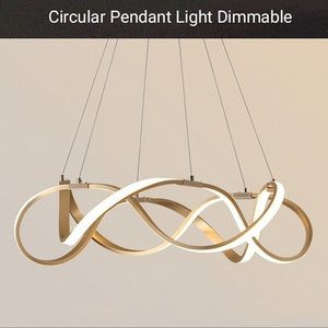 Circular Pendant Light Modern Chandelier Pendant Light LED Dimmable with Control - heparts