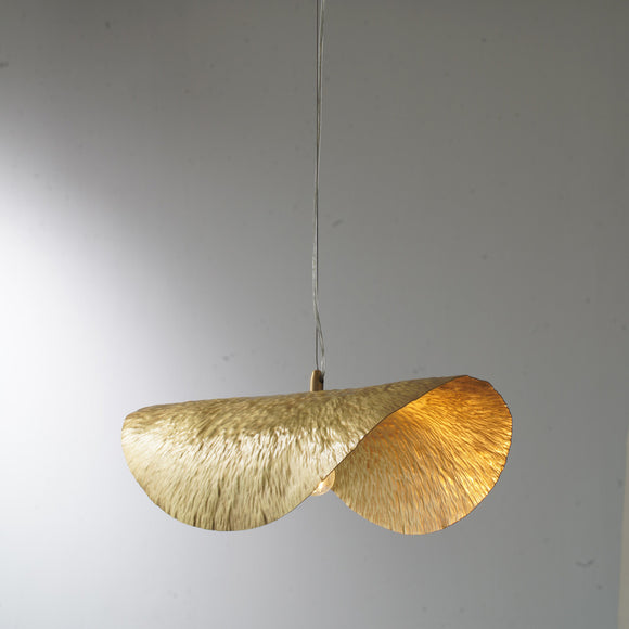 Copper Lotus Leaf Artistic Nordic Style Pendant Light Lighting E12/E14