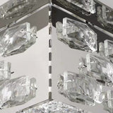 Crystal LED Flush Mount Ambient Light Electroplated Metal Dimmable Remote Control - heparts