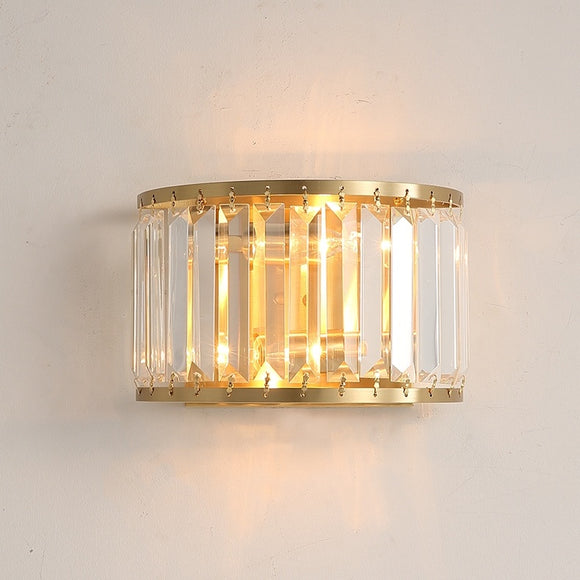 Crystal Solid Brass Sconce Wall Lights Bathroom Lights Vanity Lighting Mid Century Sconce