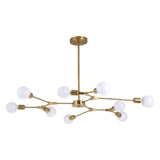 9-Lights Electroplated Northern Europe Chandelier Modern Metal Molecules Pendant Lights E26/E27 - heparts