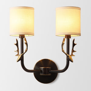 Fabric Solid Brass Sconce Wall Lights Bathroom Lights Vanity Lighting Mid Century Sconce - heparts