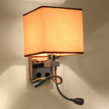 Fabric Vintage Wall Sconces with LED Swing Lights E26/E27 - heparts