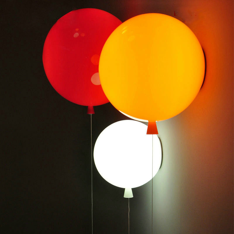 Fashionable Colorful Balloon Lamp Mini Wall Lamp Kids E26 E27 Heparts