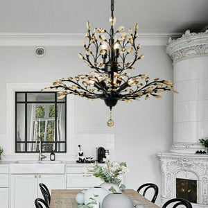 8-Lights Classic Crystal Pendant Light Retro Chandelier Living Bed Dining Room Retro Lamp