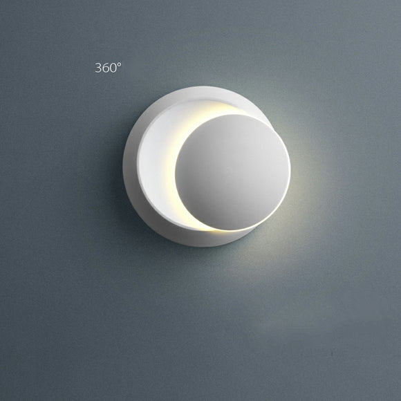 Free Shipping Crescent Moon INS Planet Mini Style Flush Mount Wall Lights Indoor Metal Wall Light LED Integrated PMMA