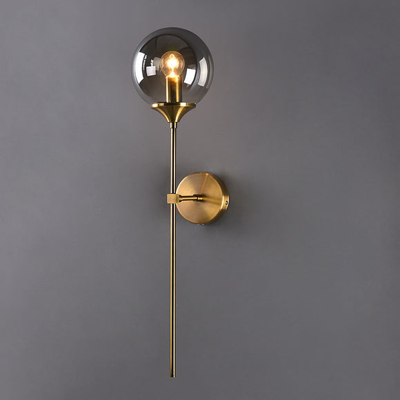 Glass Vanity Lighting Industrial Globe Shape Wall Sconces