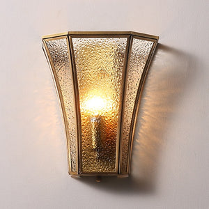 Glass Cage Solid Brass Sconce Wall Lights Bathroom Lights Vanity Lighting Mid Century Sconce - heparts