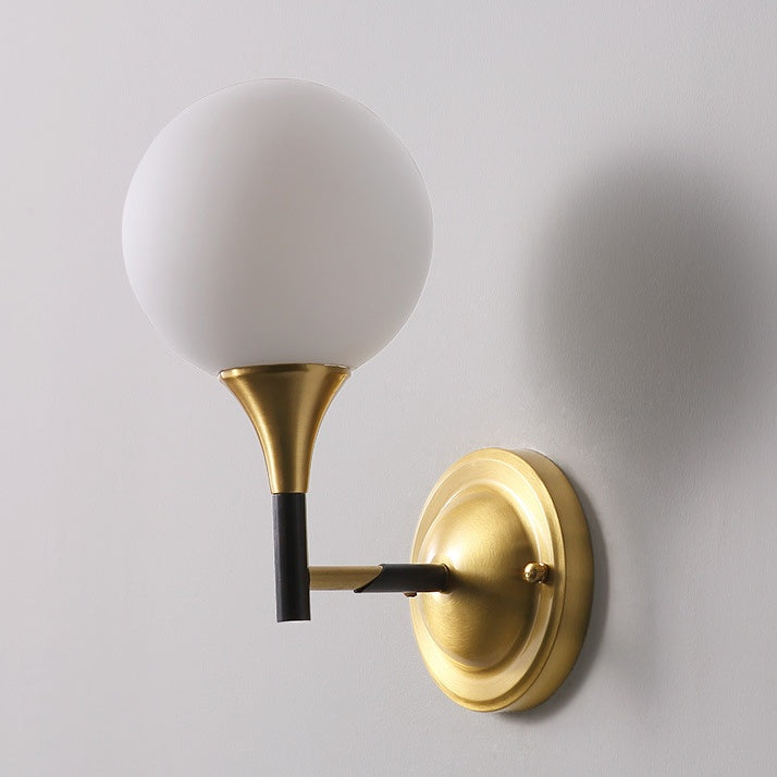 best website e422d 55aba Glass ball Solid Brass Sconce Wall Lights Bathroom Lights Vanity Lighting  Mid Century Sconce