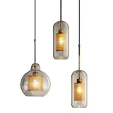 Gourd/Globe/Cylinder Pendant Light Ambient Light Electroplated Glass Glass E26/E27 - heparts