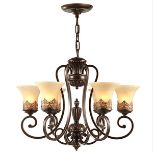5/6/8-Light Chandelier Ambient Light Painted Finishes Metal Glass Candle Style E26 / E27