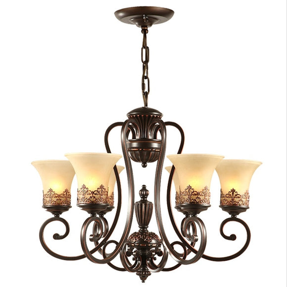 5/6/8-Light Chandelier Ambient Light Painted Finishes Metal Glass Candle Style E26 / E27 - heparts