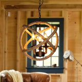 3-Light Circular Pendant Light Ambient Light Painted Finishes Metal - heparts