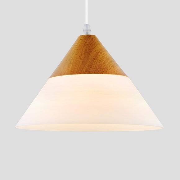 Cone Modern Wood Drum Pendant Light Ambient Light