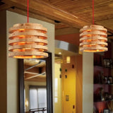 Modern Wood Drum Pendant Light Ambient Light - heparts