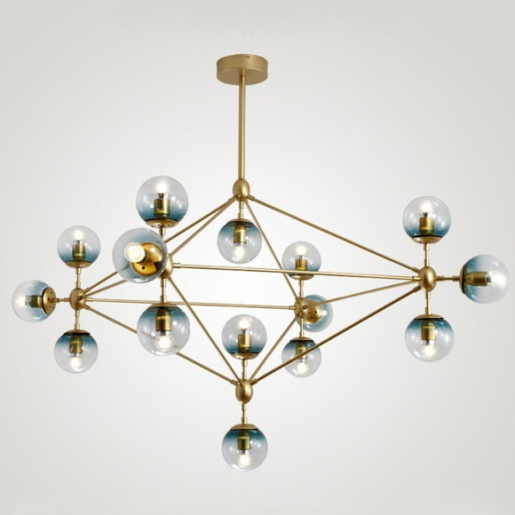Popular Sputnik Pendant Light Chandelier Ambient Light Painted Finishes Metal Glass E26/E27 - heparts