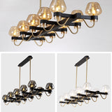 New Bubble Glass Sputnik Chandelier Ambient Light G9 LED 10-Light - heparts
