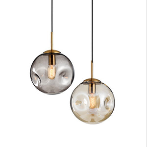 Mini Glass Pendant Light Fixture E26/E27 - heparts