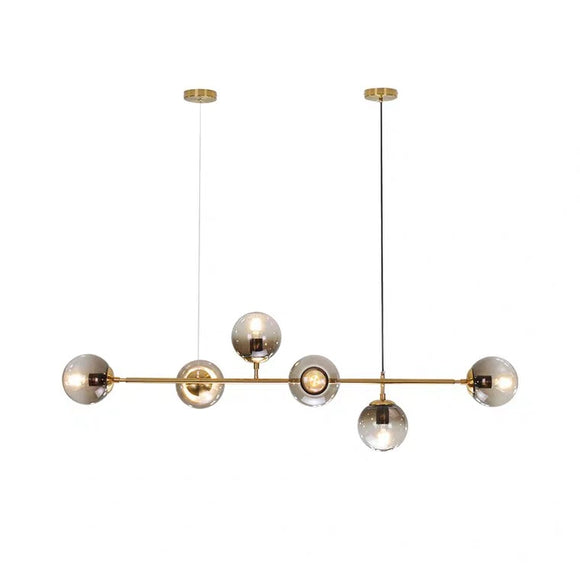 6-Light Sputnik Pendant Light Chandelier Lighting Lamp Ambient Light -E26/E27 LED - heparts