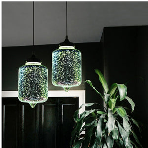 Mini Art Glass Pendant Light Fixture E26/E27 - heparts