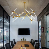 Oversized Corner 20-Head Modern Metal Bar Pendant Lights - heparts