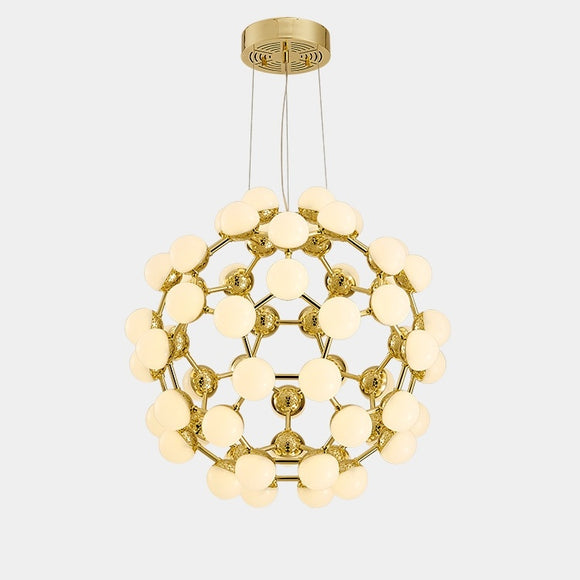 Oversized  D65cm Globe Sputnik Pendant Light Chandelier Ambient Light Candle Style LED Integrated - heparts