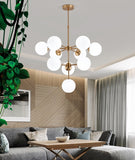 10-Lights Cluster Pendant Light Ambient Light Electroplated Metal Glass110-240V Bulb Included / G9 - heparts