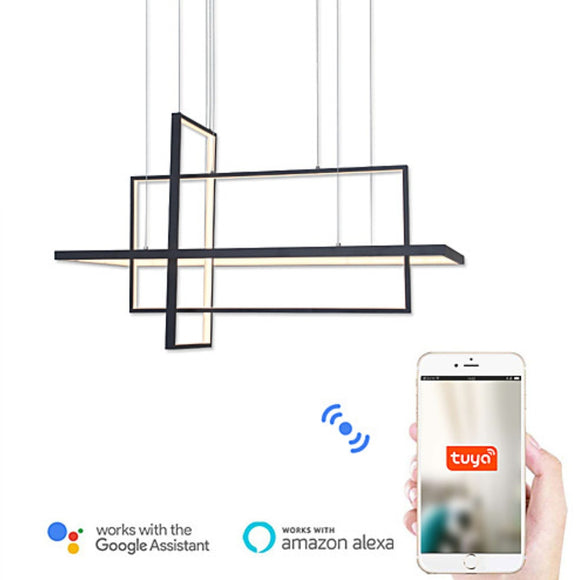 Wifi-smart Modern Led Pendant Lights Creative Hanging Lamp Lighting Aluminium Luminaria Painting for Bar Living Bed Room 90W - heparts
