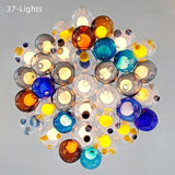 DIY Multi-Colored Bubbles Modern Chandelier Glass Ball Stairs Bedroom Creative Kids Room Pendant Light Restaurant Bubble Light Glass Chandelier G4 LED - heparts