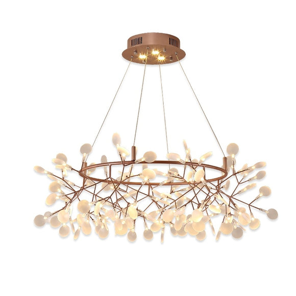 Oversized D85/105/125/150 Firefly Circular Ring Sputnik Pendant Light Chandelier Ambient Light Candle Style LED - heparts