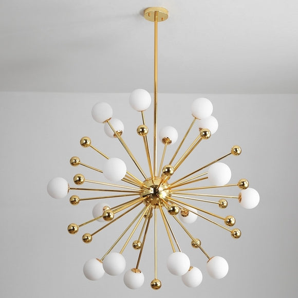 11/12/18 Lights Sputnik  Milk White Glass Ball Pendant Light Chandelier Lighting Lamp Ambient Light - G4 Bulb Included - heparts