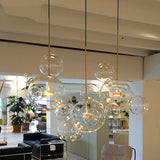 1/3 Light Bubble Globe Glass Novelty Sputnik Chandelier Ambient Light Painted Finishes Metal Glass Creative LED - heparts