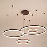 4 Rings Modern LED Pendant Lights Suspension Lighting for Dinning Room Foyer Bedroom Hanging Lamp 90-265V - heparts