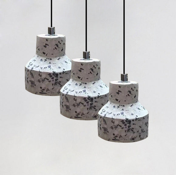 Free Shipping Mini Pendant Light with Antique Concrete Shade, Vintage Industrial Farmhouse Pendant Lighting Fixture Cement Ceiling Light for Dining Room