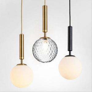 Ins Circular Pendant Light Ambient Light Gold Metal Glass E26/E27 Dining Room,Bedroom