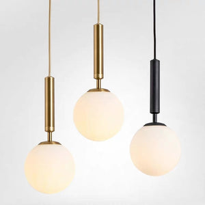Ins Circular Pendant Light Ambient Light Gold Metal Glass E12/E14 Dining Room,Bedroom - heparts