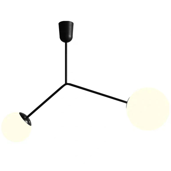 Ins White Glass Cherry Ball Pendant Light Designer's Lamp Simple Modern - heparts