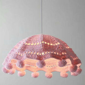 Ins Wool Chandelier Girl bedroom Creative Art pink Cotton chandelier