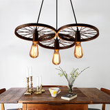 Iron Rings Cluster Chandelier Down-light American Neoclassic Pendant lights - heparts
